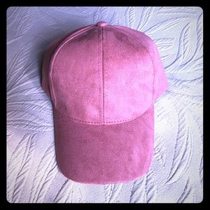 NWT LIGHT PINK SUEDE HAT